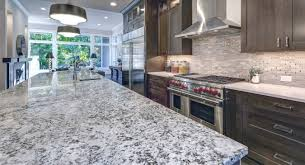 kitchen countertops gray granite and white quartz countertops in luxury kitchen