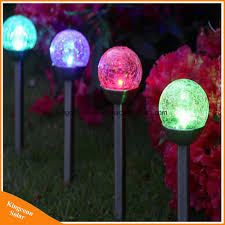 Outdoor Color Changing Led Lights Hot Item Color Changing Outdoor Solar Lights Cracked Glass Ball Led Garden Landscape Pathway Lights For Path Patio Yard