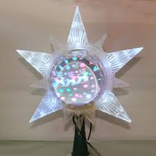 Lighted Globe Led Revolving Tree Topper