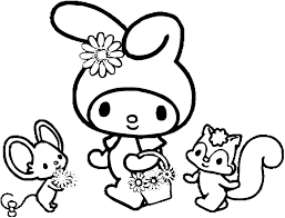 Small Picture Melody Coloring Pages