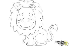 easy lion drawings in pencil. Contemporary Drawings How To Draw A Lion For Kids  Step 11 To Easy Drawings In Pencil