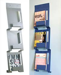 magazine rack wall mount:  wall mounted metal magazine rack
