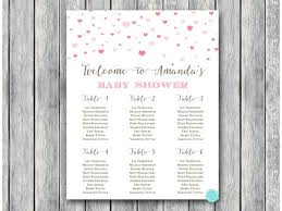 Printable Shower Chart Custom Heart Confetti Baby Shower Chart Sn595 In 2019 Baby