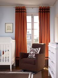 infuse some color into the nursery with bold curtains design artistic designs for living