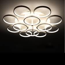 Circle Rings Designer Ceiling Lamp Avize Lighting Ceiling Lights Led