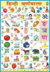 Hindi Letters Chart With English Hindi Alphabet Chart