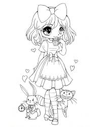 Small Picture Chibi Characters Netart Coloring Coloring Pages