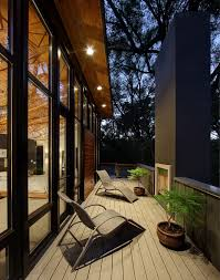 contemporary lounge lighting. Lounge Chair Outdoor Deck Contemporary With Courtyard Lighting Fireplace. Image By: Bruns Architecture N