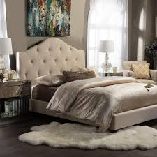 beige bedroom furniture. anica beige queen upholstered bed bedroom furniture