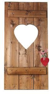 Fensterladen Herz Holz Dekoration Ca 35x70cm Geldgeschenk Braun