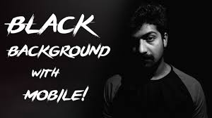 black background photography with