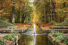 castle park, ludwigslust-parchim, water fountain, channel, autumn, monk,  schlossgarten, park, water, places of interest, avenue | Pikist