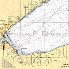 Lake Superior Depth Chart Wisconsin Superior Lake Superior Duluth Nautical Chart Decor