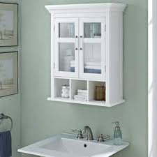 white bathroom cabinets. wyndenhall hayes two door bathroom wall cabinet with cubbies in white cabinets y