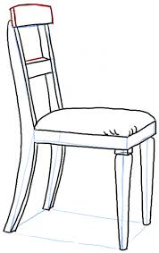 chair clipart black and white. cartoon chair how to draw a in therrect perspective with easy st clipart black and white