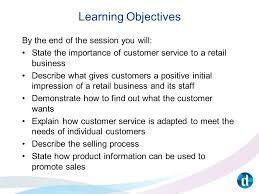 How Would You Describe Customer Service Unit 152 Understanding Customer Service In The Retail Sector