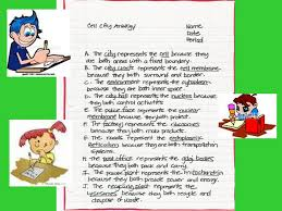 Cell City Analogy Examples Cell City Ppt Video Online Download