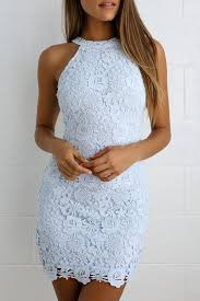 <b>Lace Dress</b> - <b>Light Blue Dress</b> - Sleeveless <b>Dress</b>
