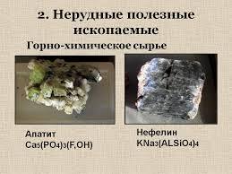 Нерудные полезные ископаемые  Нерудные полезные ископаемые
