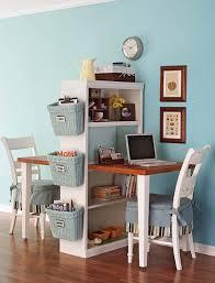 Creative workspace ideas: bookcase desk hack DIY via Apartment Therapy