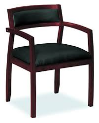 guest chair. hon topflight wood guest chair - leather seated with arms, office furniture,