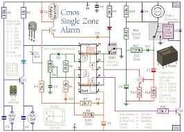 build this simple cmos based single zone burglar alarm project Alarm Panel Circuit Diagram a schematic diagram of a cmos based single zone burglar alarm wireless alarm system circuit diagram