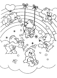Small Picture Care Bears Coloring Pages