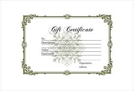 Gift Certificate Printable Free 12 Blank Gift Certificate Templates Free Sample Example