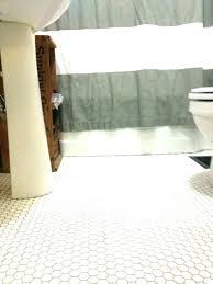 black hexagon floor tile white