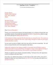Apologize Sample Letters Apology Letter Template 9 Free Word Pdf Documents