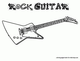 Small Picture Stunning Guitar Coloring Pages Contemporary Coloring Page Design