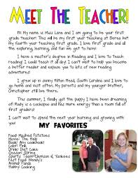 Letter Of Introduction Teacher Stunning Excellent Meet The Teacher Letter For The Beginning Of The Year