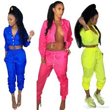 Womens Designer Sweat Suits 2019 New Women Designer Tracksuit Clothes Button Up Neck Long Sleeve Jogging Suits 2 Two Piece Set Sporting Outfits Sweat Suits Sweatsuits From