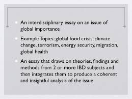 sample extended essay questions world studies sample questions 38 • an interdisciplinary essay on an issue