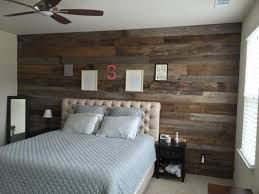 grey brown accent wall in master