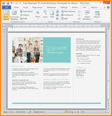 Trifold Template For Word 12 13 Trifold Template For Word Elainegalindo Com