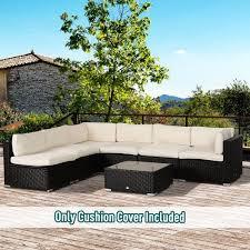 outdoor garden rattan furniture beige