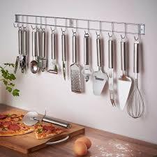 VonShef 12 Piece Stainless Steel Kitchen Utensils & Gadget Set with Utensil  Hanging Rack / Bar