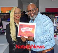The Nation Barbados - Departmental Star Award: Delores Dottin (left)  presented by Development and Facilities Manager Frank Griffith. (Picture by  Reco Moore) | Facebook