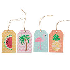 Summer Gift Tags Set Of 12 Tropical Summer Gift Tags Assorted