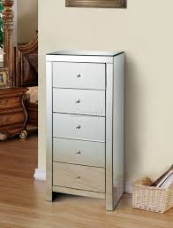 glass chest of drawers bedroom furniture. sentinel foxhunter mirrored furniture glass 5 drawer tallboy chest cabinet bedroom mtc01 of drawers o