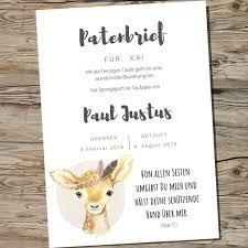 Patenbrief Taufpate Schmetterling Karten Zur Taufe Zur Taufe