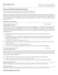 Accounts Receivable Specialist Resumes Accounts Receivable Specialist Resume Sample Samples Receivables