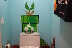 Super Mario Bedroom Super Mario Brothers Bathroom Decor Declares Game Over Curbed
