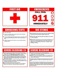 Cub Scout Webelos Printable First Aid Print In Color On Card Stock