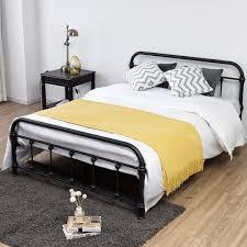 Shop Costway Full Size Metal Steel Bed Frame W/Stable Metal Slats ...