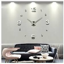 wall mirrors wall mirror clock large home decor foam mirrors acrylic stickers cool big timer