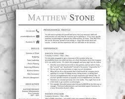 Professional Resume Template Beauteous Professional Resume Template For Word Pages Professional Etsy
