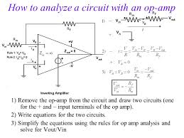 how to yze a circuit with an op amp