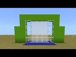 how to make a automatic glass door opening mcpe command block tutorial